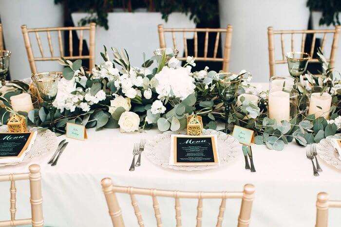 Tischdeko Eukalyptus Hochzeit