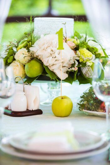 Tischdeko Fur Die Hochzeit In Grun Mehr Ideen In Der Bildergalerie