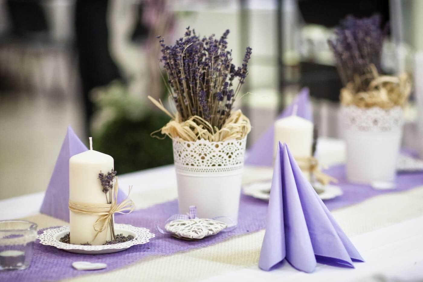 Hochzeitsdeko Lavendel Schone Ideen Fur Tisch Co