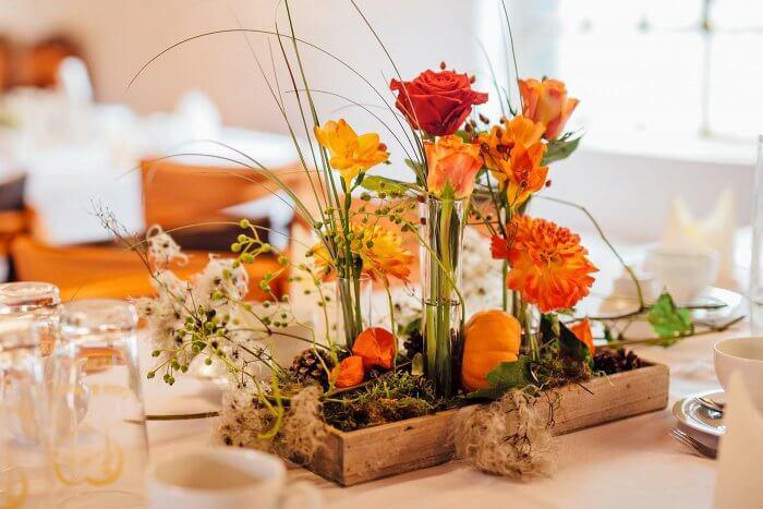 Tischdeko Orange Grosse Deko Bildergalerie Zur Hochzeit