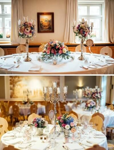 Tischdeko für die boho Hochzeit