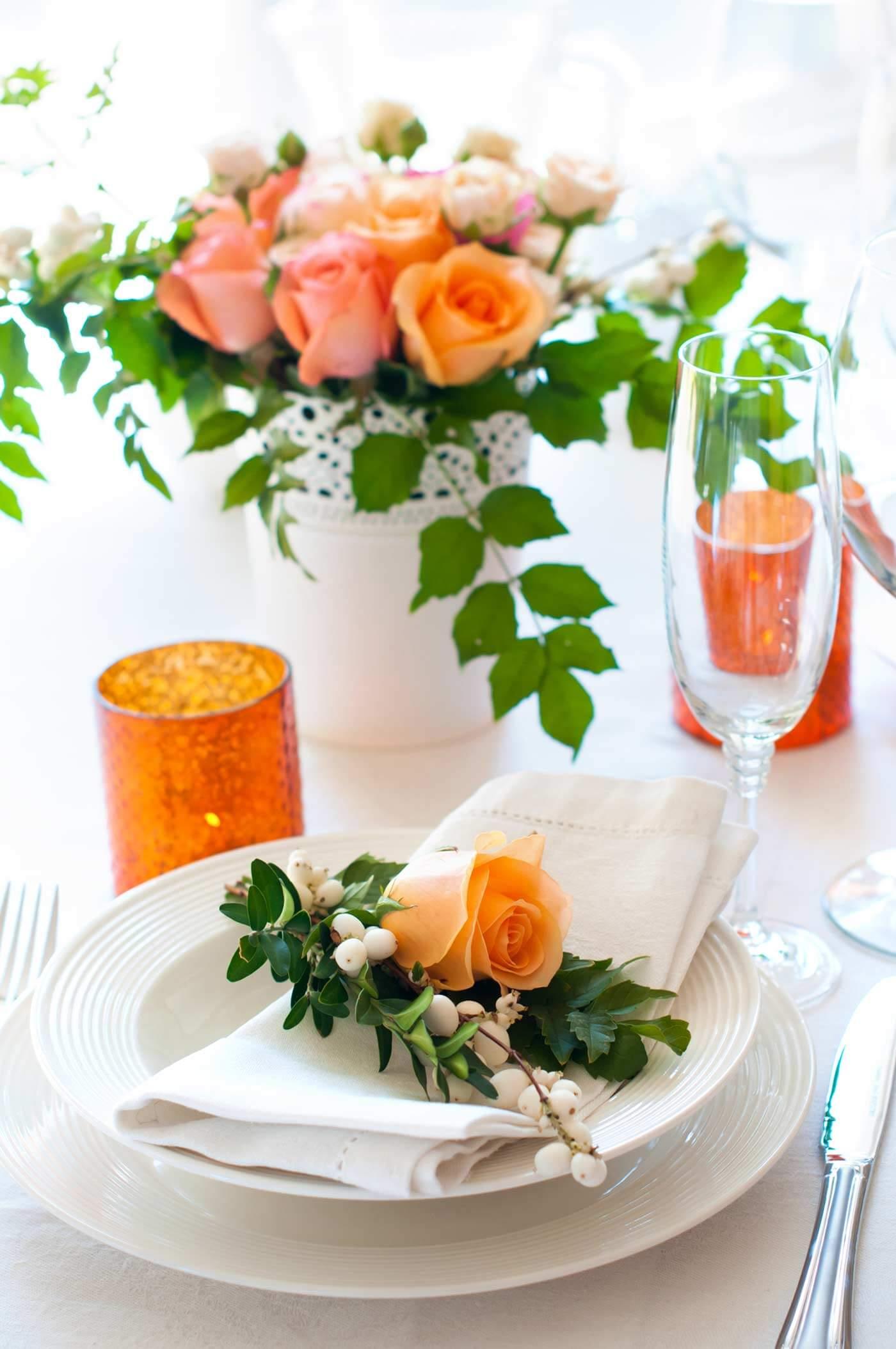 tischdeko in gr n orange weitere beispiele in der bildergalerie. Black Bedroom Furniture Sets. Home Design Ideas
