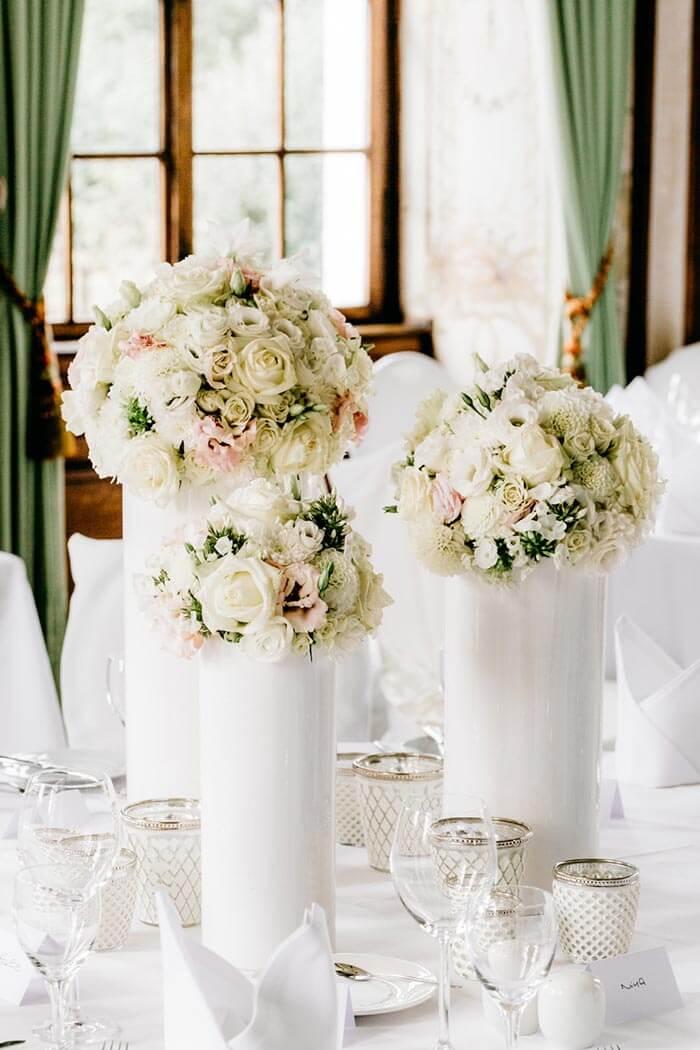 Tischdekoration Hochzeit Beispiele