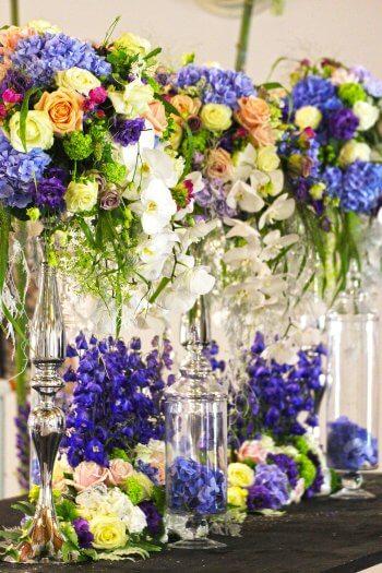 Tischschmuck für die Hochzeit