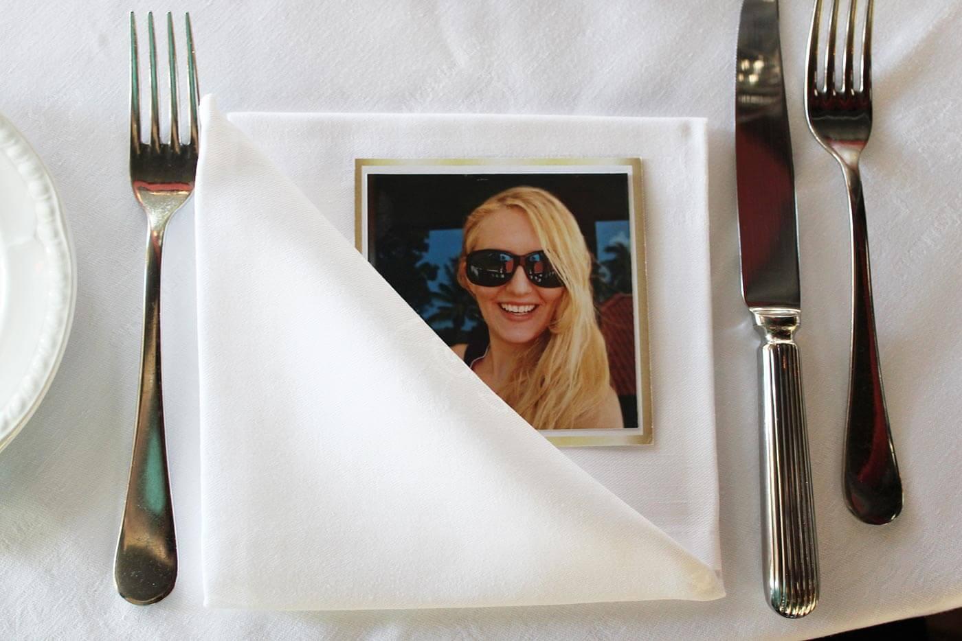 Foto Tischkarten