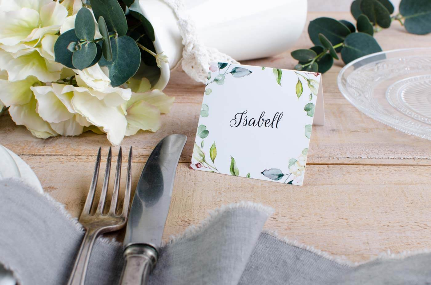 Tischkarte Greenery