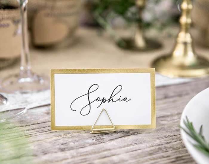 Tischkarten Goldene Hochzeit