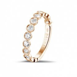 Rotgold Ring mit Diamanten