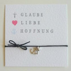 Glaube Liebe Hoffnung Armband