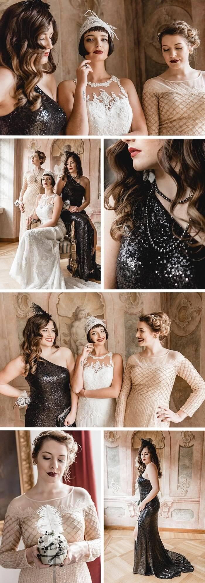 Hochzeit 20er Jahre Outfit