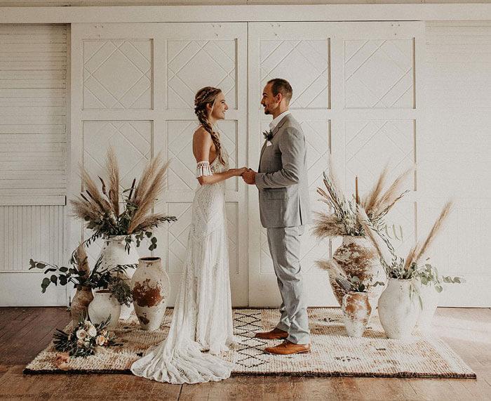Hochzeitskleid Boho-Stil