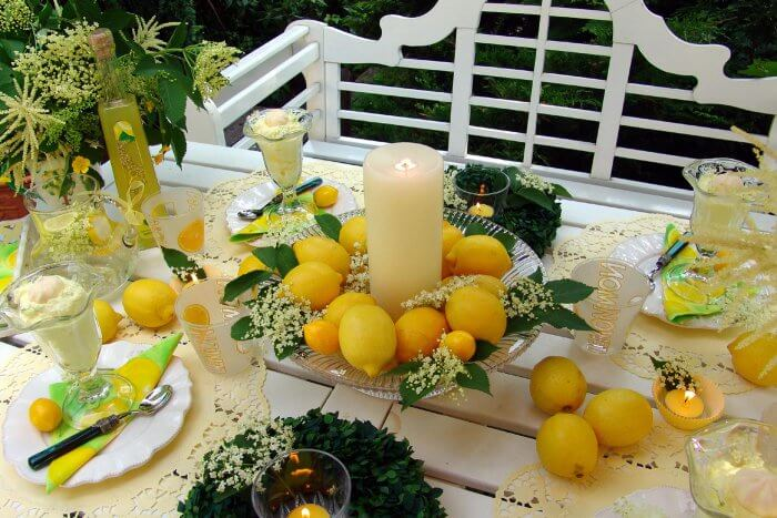 Tischdekoration Sommer