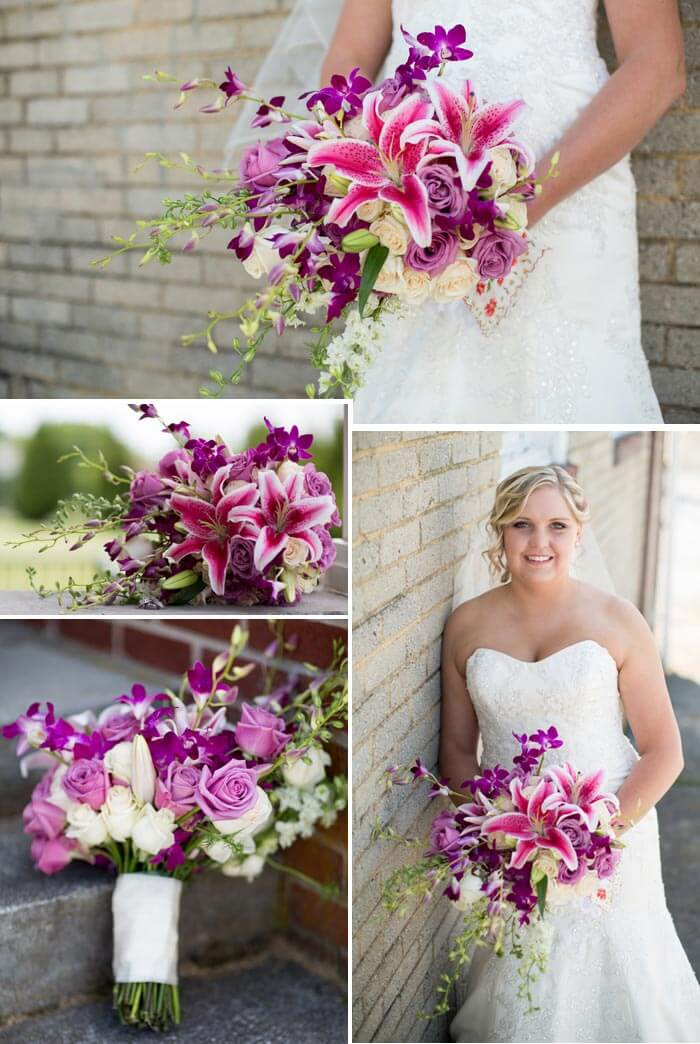 Brautstrauß mit lila Lilie