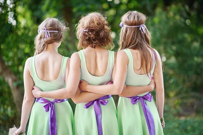 Brautjungfernkleider Pastell Grün