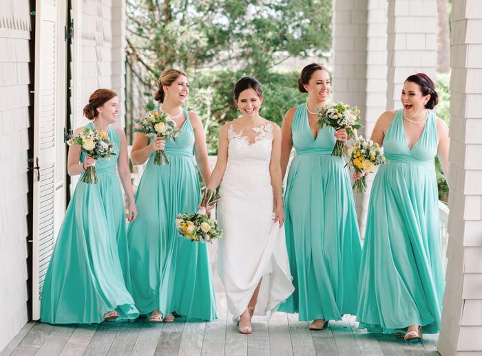 Pastellfarbene Brautjungfernkleider