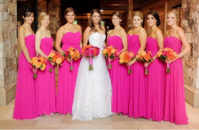 Brautjungfernkleider Pink