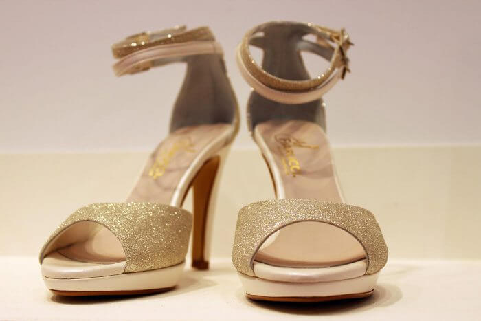 Brautschuhe in Gold Elsa Coloured Shoes