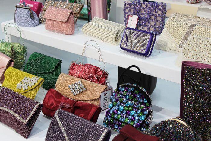 Brauttaschen farbig von drap