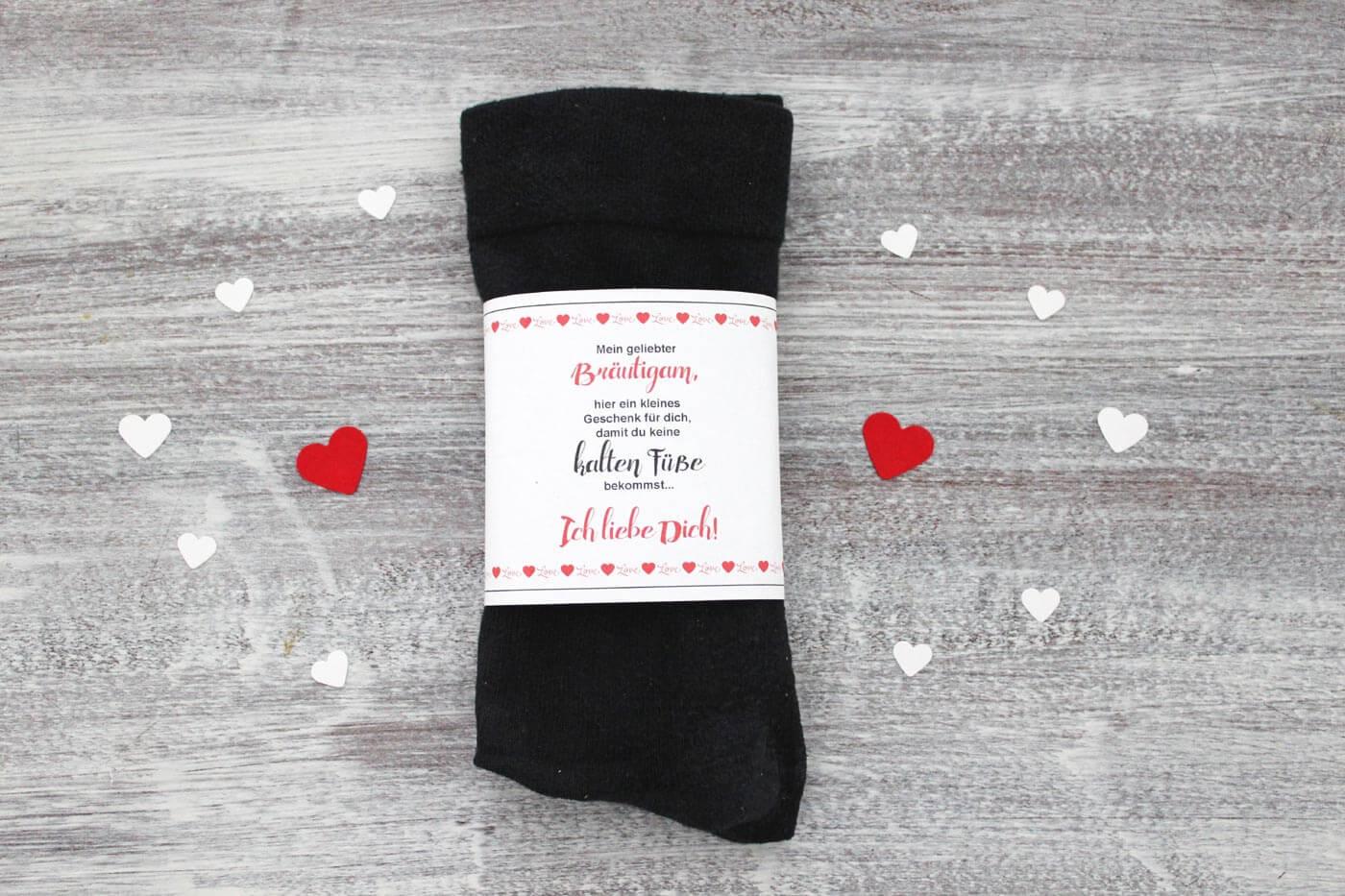 Diy Brautigam Socken Gegen Kalte Fusse Banderole Gratis Zum