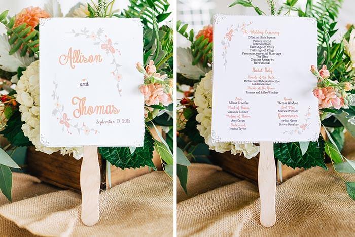 Fächer für die Hochzeit /Hochzeitsgäste