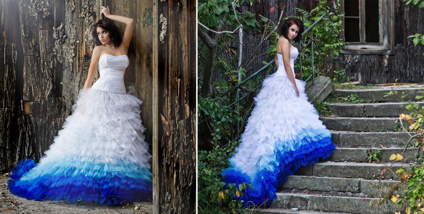 Dip-Dye Brautkleider | Ideen & Inspirationen zu farbigen Brautkleidern