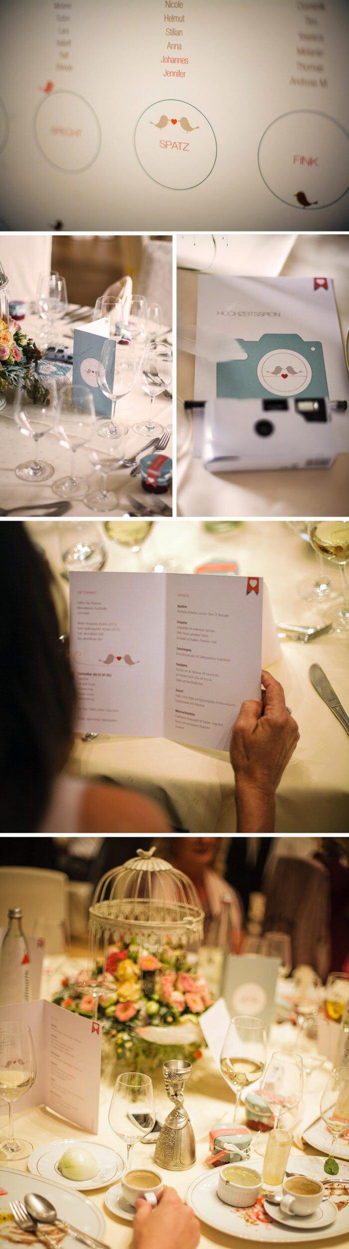 Tischdeko Hochzeit Schloss Eberstein