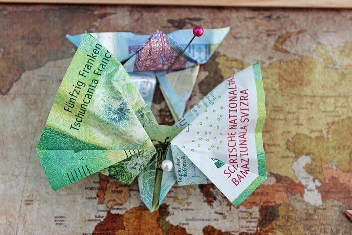 Geldscheine falten Geschenk