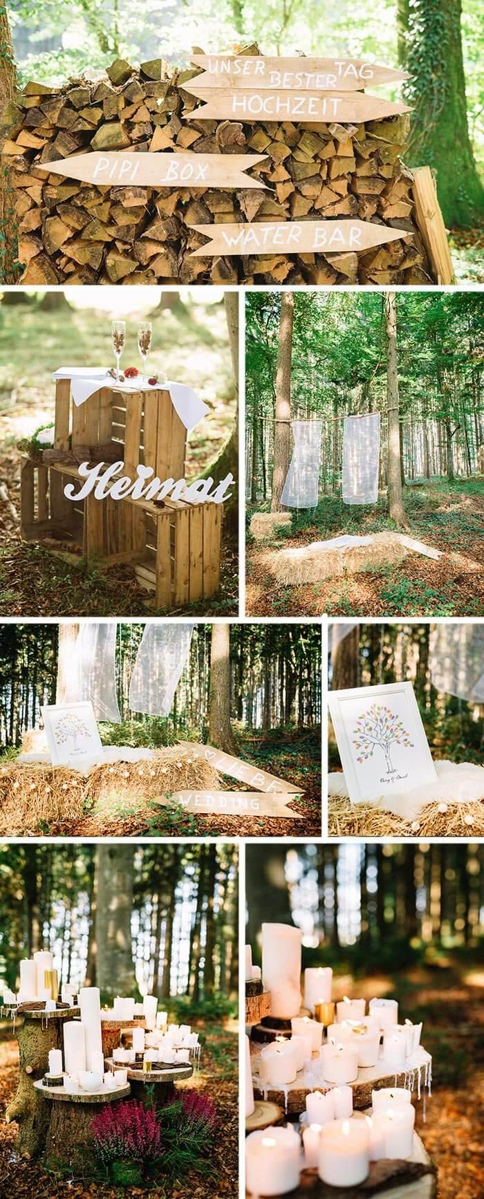 Hochzeitsdeko Natur