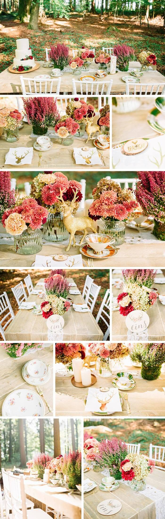Tischdeko Hochzeit Natur