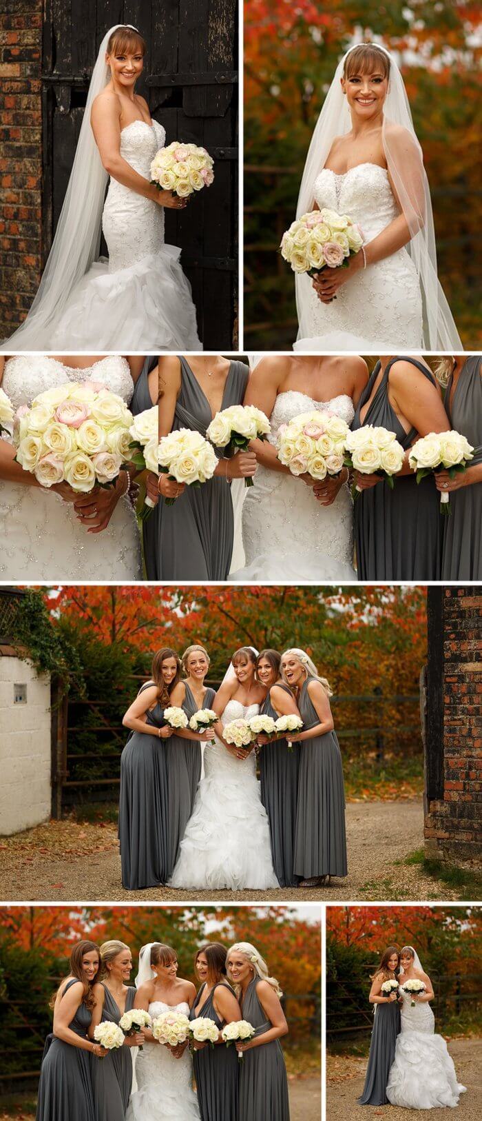 Graues Brautjungfernkleid