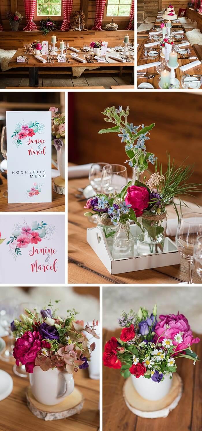 Hochzeit Almhütte