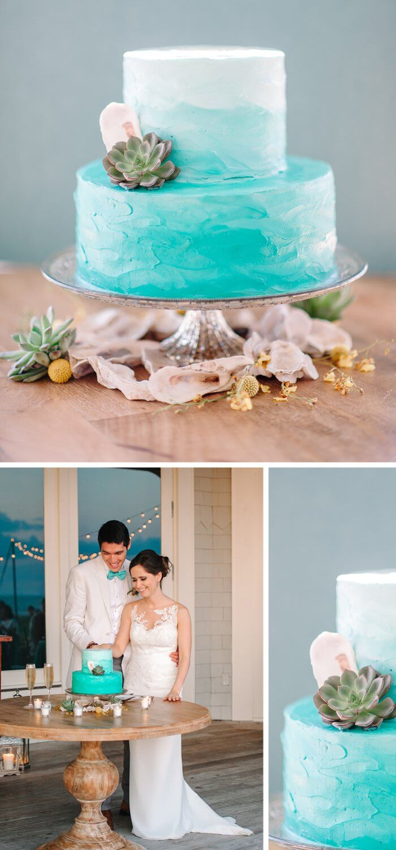 Hochzeitstorte Türkis