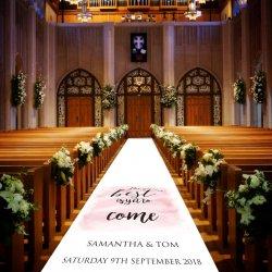 Hochzeitsteppich personalisiert