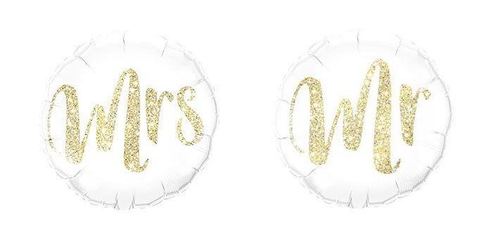Luftballon Mr Mrs