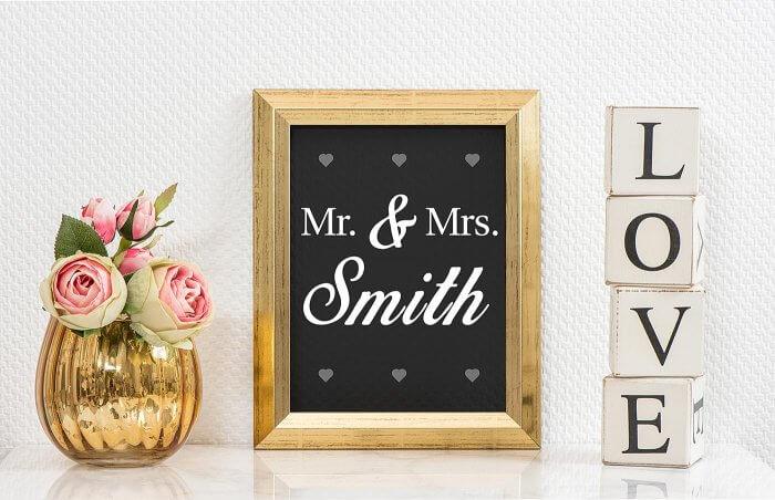 Mr & Mrs Deko für Zuhause