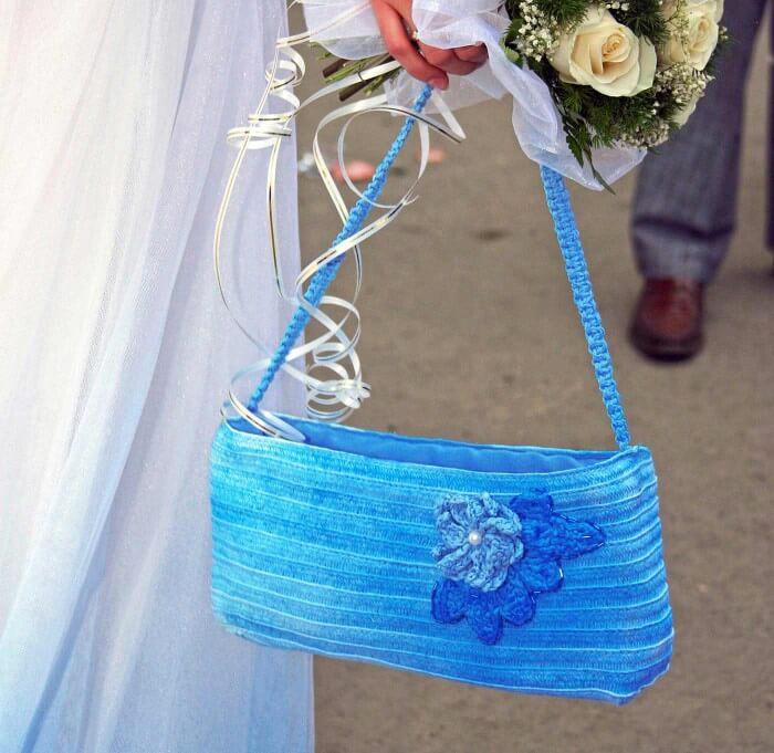 Something Blue Brauttasche