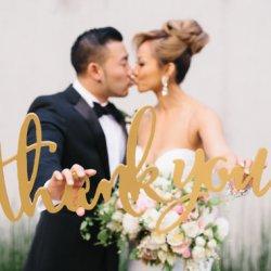 Hochzeitsfoto Danke