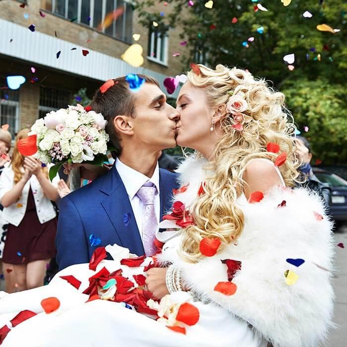 Konfetti Hochzeitsbilder