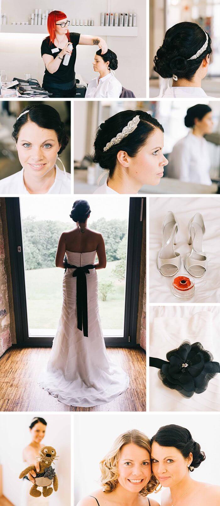 Schwarz Weißes Brautkleid