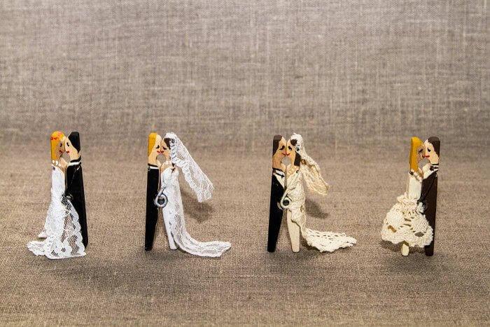 Brautpaar Wäscheklammer