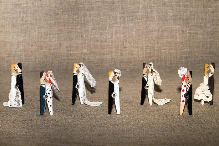 Wäscheklammern Hochzeit