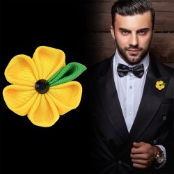 Blumen Anstecker Anzug
