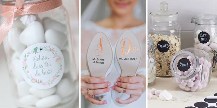 Aufkleber Zur Hochzeit Die 5 Schönsten Ideen Und Beispiele
