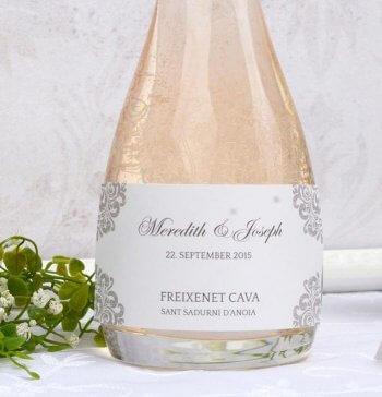 Sektflasche Hochzeit