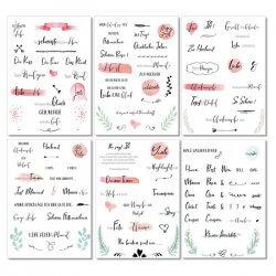 Sticker Hochzeit Gästebuch