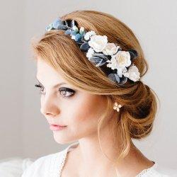 Blumenkranz Haare Hochzeit