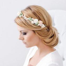 Blumenkranz Hochzeit vintage