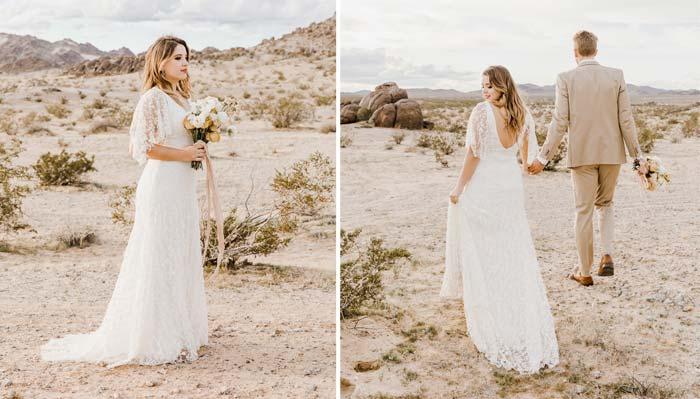 Boho Brautkleid gebraucht