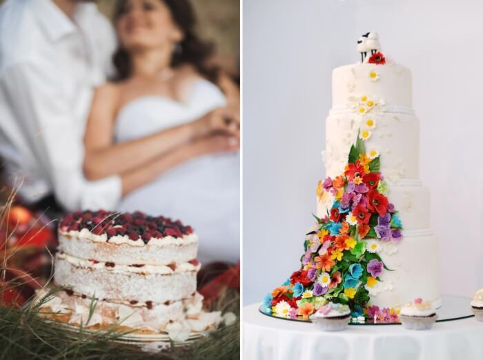 Boho Hochzeitstorten