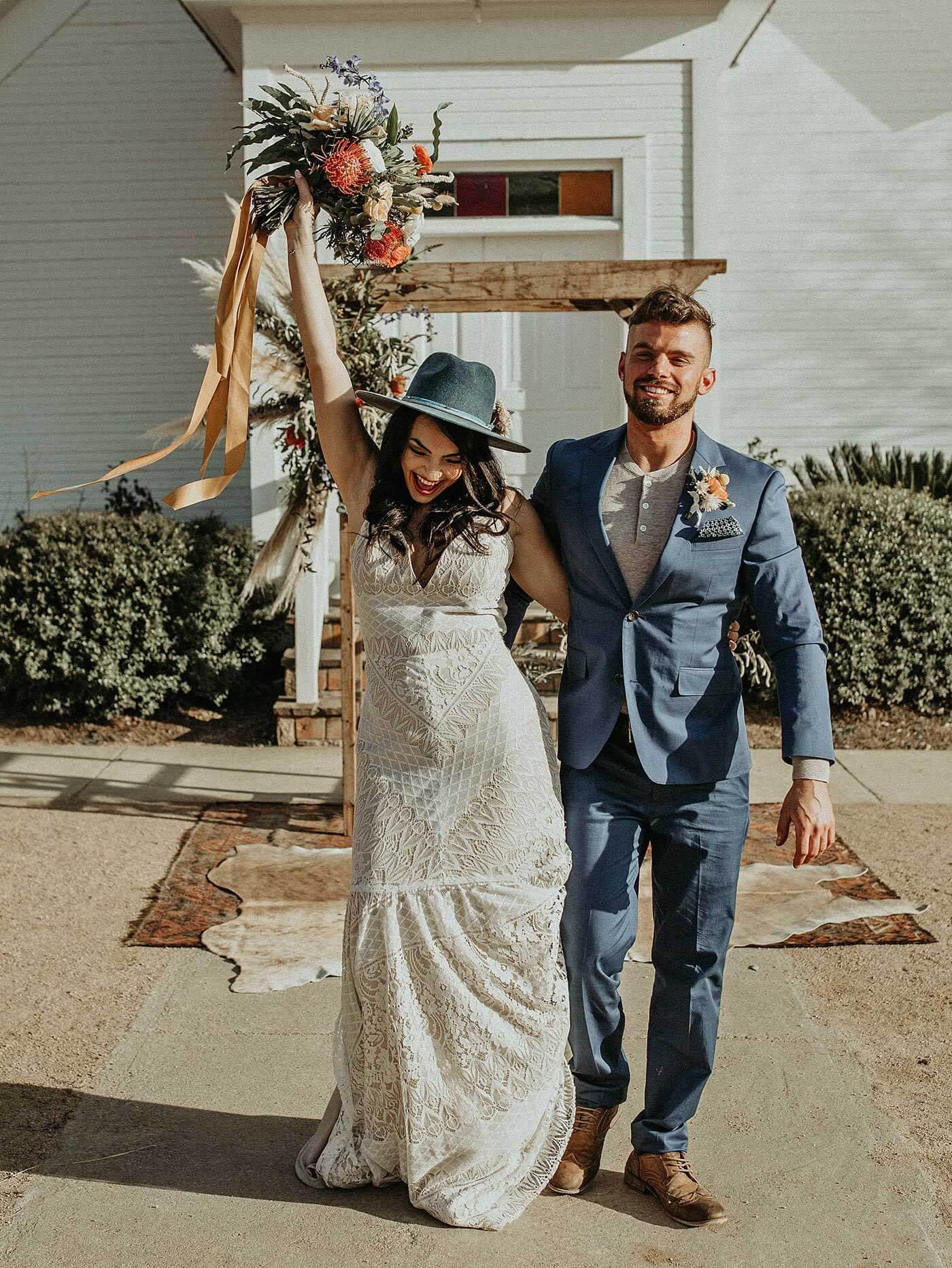 Brautkleid im Bohemian Style